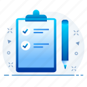 cardboard, checklist, do, list, to icon