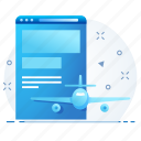 landing, page, redirection, web, website icon