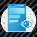 marketing, optimization, seo, view, vision, web, webpage icon