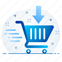 basket, cart, conversion, seo icon