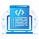 code, coding, page, programming, technology icon