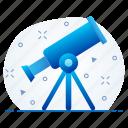 rocket, space, spaceship, telescope icon