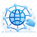 cloud, connection, network, social icon