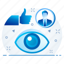 explore, eye, look, view, vision icon