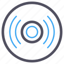 blue, compact disk, memory, software, storage icon