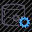 gear, harddisk, hosting, loading, server, software, working icon