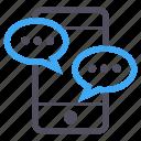 balloon, chat, communications, phone, software, talk