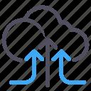 cloud, data, software, storage, upload icon
