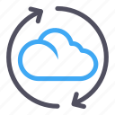 cloud, exchange, loading, software, transfer icon