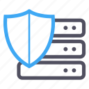hosting, network, protection, security, shield, software, storage icon