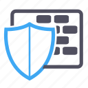 protection, security, shield, software, wall icon