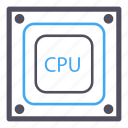 blue, cpu, memory, processor, software, storage icon