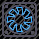computer fan, cooling, energy, fan, software icon