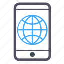 blue, globe, interface, internet, software, user interface, world icon