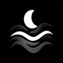 fog, night, weather, climate, foggy, forecast icon