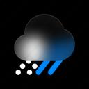 snowy, day, weather, snow, rainy, winter, forecast icon