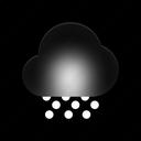 snowy, day, weather, snowflake, snow, forecast icon