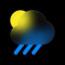 sunny, day, weather, rainy, forecast, rain icon