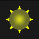 summer, sunny, day, weather, sun, forecast icon