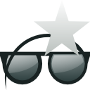 glasses, star, sunglasses icon