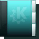 folder, neongreen icon