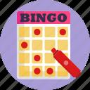 games, board, bingo, game icon