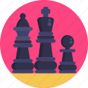 king, chess, board, prawn, games, crown, queen icon