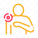ache, body, pain, pinpoint, shoulder icon