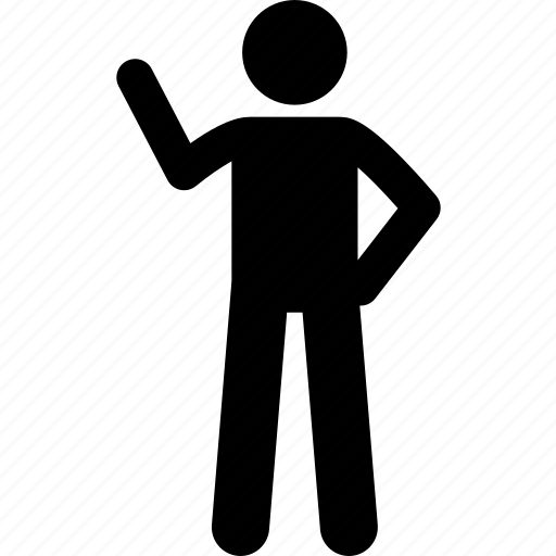 gesture, man, showing, talking, telling icon