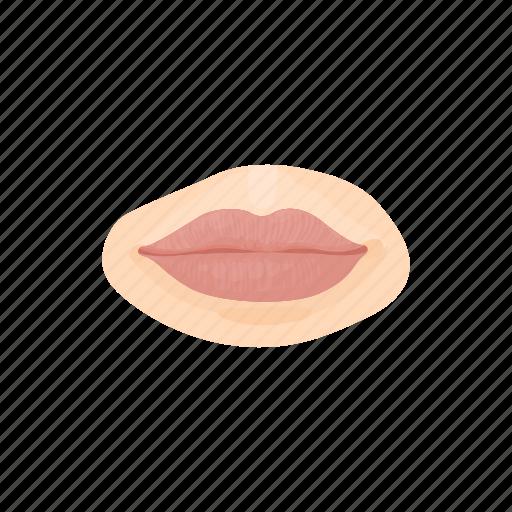 beauty, cartoon, female, girl, human, lip, mouth icon
