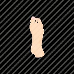 body, care, cartoon, foot, health, leg, treatment icon