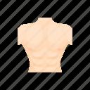 body, cartoon, chest, human, male, muscle, torso icon