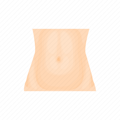 abdomen, body, cartoon, health, human, stomach, waist icon