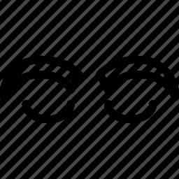 creative, eye, eyebrow, eyebrows, grid, line, shape icon