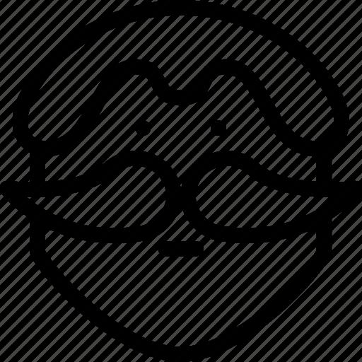 avatar, creative, face, grid, human, male, man, men, moustache, mustache, people, person, shape, style icon