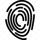 creative, fingerprint, grid, line, scanner, security, shape, unique icon