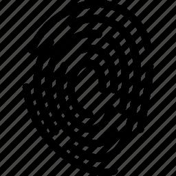 creative, fingerprint, grid, line, scanner, security, shape, unique icon