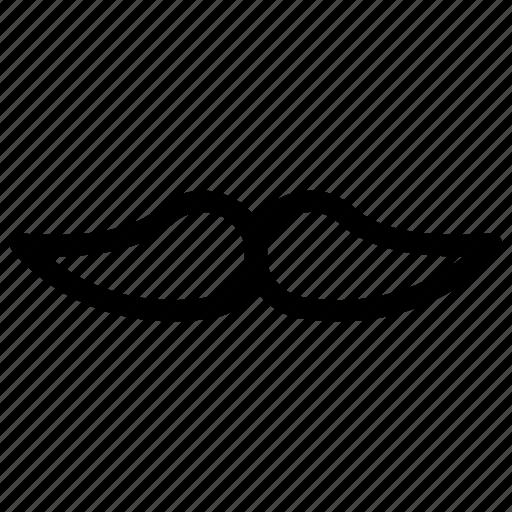 creative, grid, human, line, male, men, moustache, mustache, people, person, shape icon