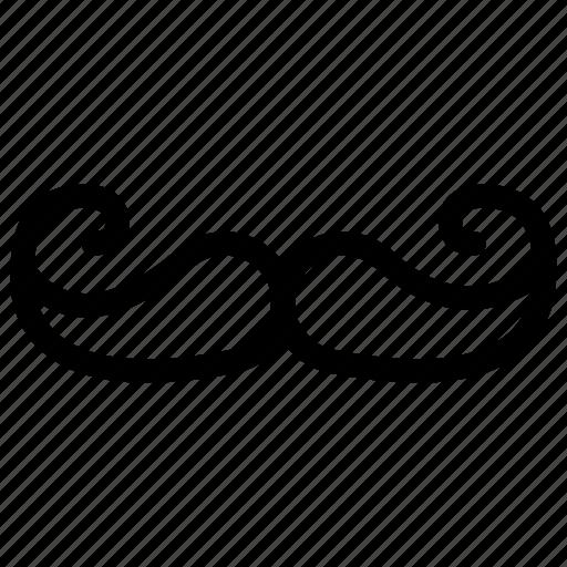 creative, grid, human, line, male, man, men, moustache, mustache, people, person, shape icon