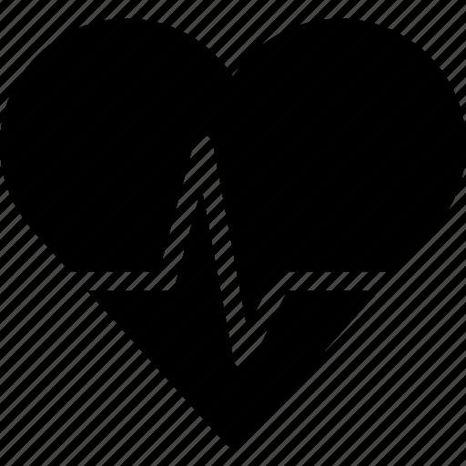 cardiovascular, creative, grid, heart, heart-beat, hospital, shape icon