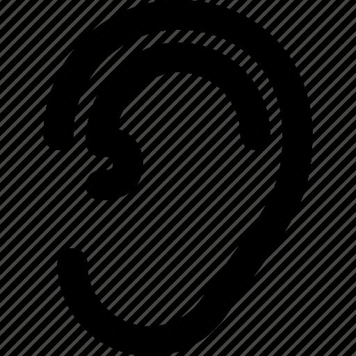 audio, creative, ear, grid, hear, listen, music, organ, shape, sound icon