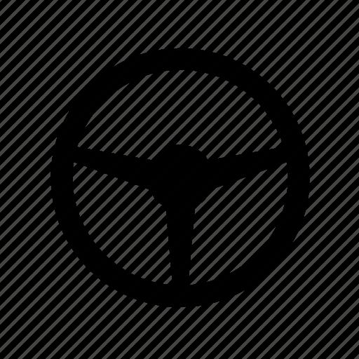 car, driver, handling, rudder icon