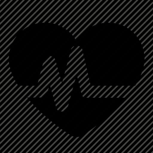 gym, health, health check, heart, heart check, pulse icon