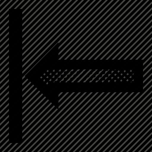 align, arrow, format, horizontal, left icon