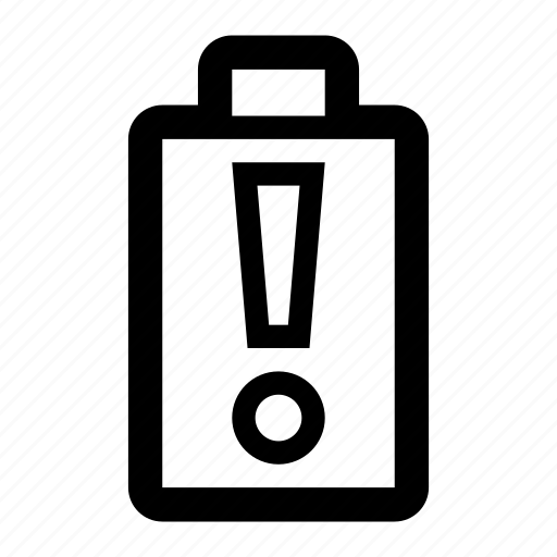 alert, battery, empty, energy, warning icon