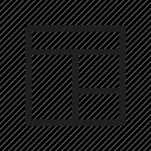 arrangement, bold, distribution, layout, ui icon