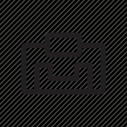 bold, command, document, file, print, printer icon