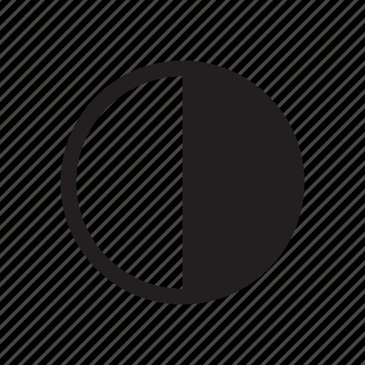 bold, camera, contrast, settings icon