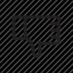 bold, dislike, downvote, favourite, rate icon