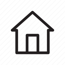 bold, home, house, navigation icon